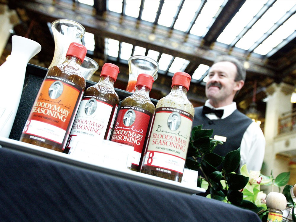 Banquets Bartender Bill Burke waits for customers at the Bloody Mary bar, during the Champagne Sunday brunch at the Davenport Hotel. - YOUNG KWAK