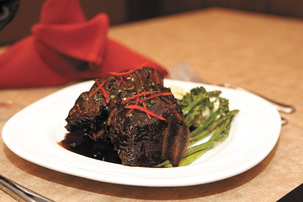 Barlows' braised beef short ribs can be had at the restaurant's new location. - MEGHAN KIRK