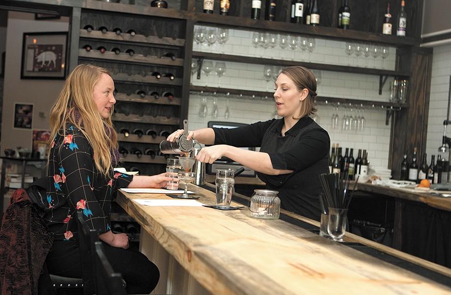 Bartender Amanda Pankratz serves up classic cocktails at Butcher Bar. - MEGHAN KIRK