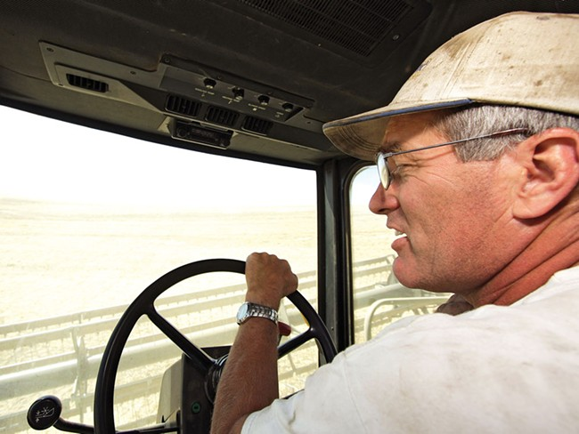 Ben Barstow has another 30,000 bushels of wheat to sell — and prices are rising. - YOUNG KWAK