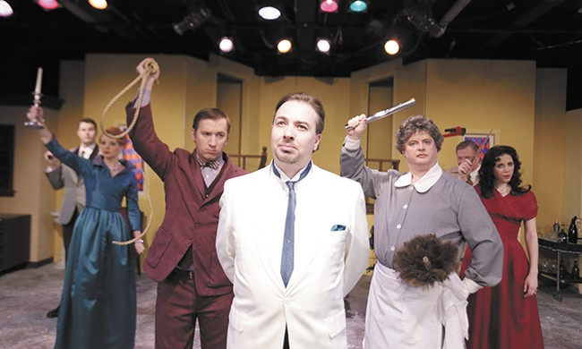 Ben Dyck (center) and the cast of Clue: The Musical. - YOUNG KWAK