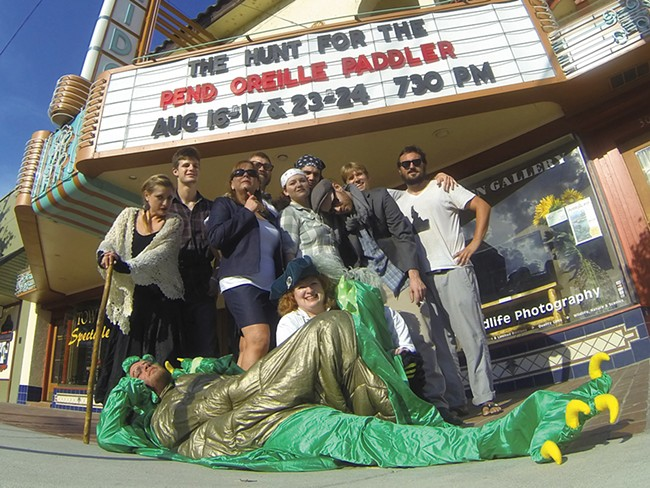 Ben Olson, far right, and the cast of The Hunt for the Pend Oreille Paddler.