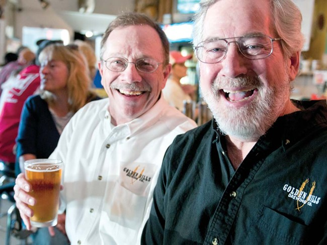 Bernie Duenwald (left) and Jim Reiha, with their newest beer, Em's Easy. - AMY HUNTER