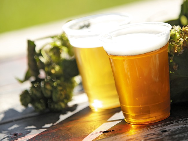 Big Barn Brewing Company ales are made from hops farmed on the site of the brewery. - YOUNG KWAK