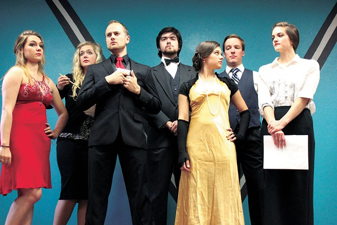 Cast members from CdA Murder Mystery Theatre. - COURTESY OF CDA MURDER MYSTERY THEATRE