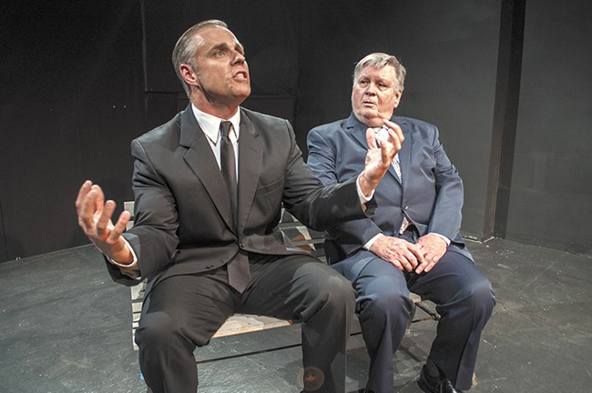 Billy Holtquist (left) and Bob Nelson take us back in time in this Stage Left production. - SARAH WURTZ