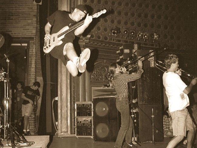 Black Happy playing a show at The Met (now the Bing Crosby Theater) back in the day - DARREN BALCH PHOTO