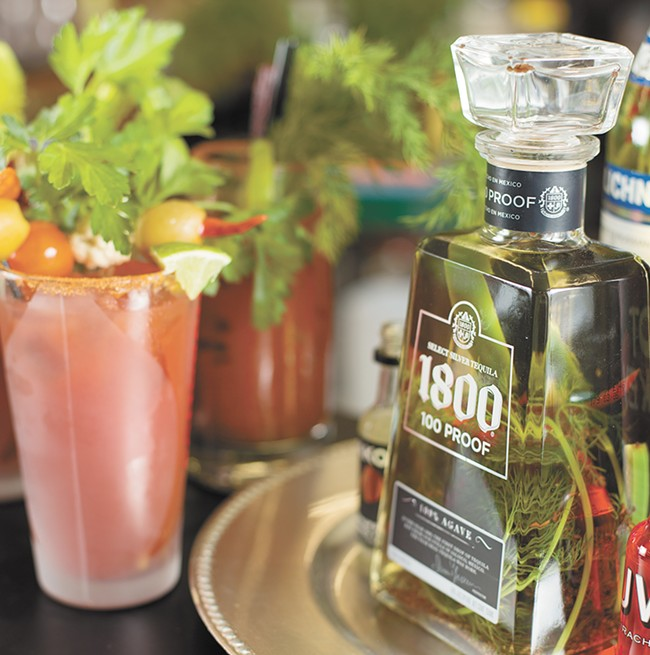 Bloody Marys made with infused liquors at Eggers South Hill Liquor. - YOUNG KWAK