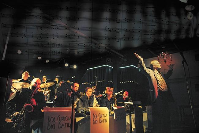 Bob Curnow directing his jazz band at the Big Dipper. - KRISTEN BLACK