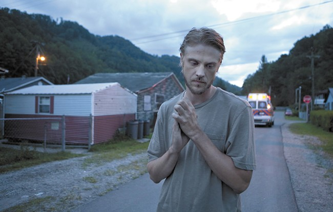 Boyd Holbrook plays a grief-stricken miner in Little Accidents.