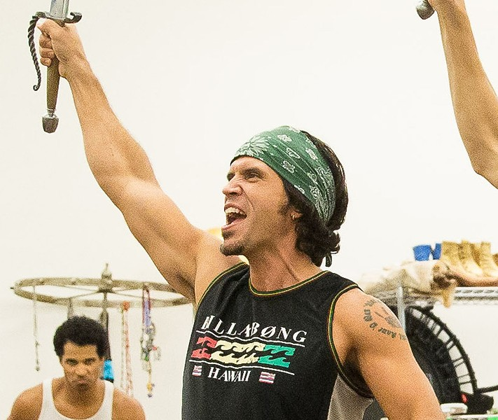 Brandon O'Neill in rehearsal for Aladdin.