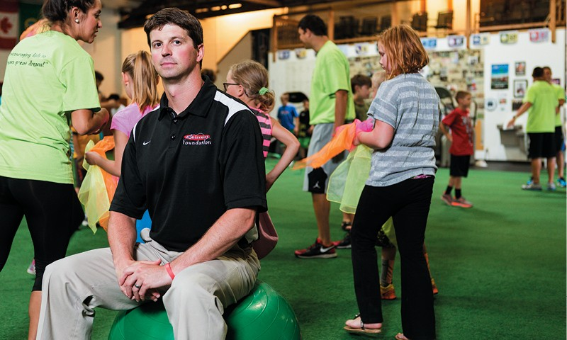 Brian Cronin at the U-District Foundation's free Fun and Fitness Camp