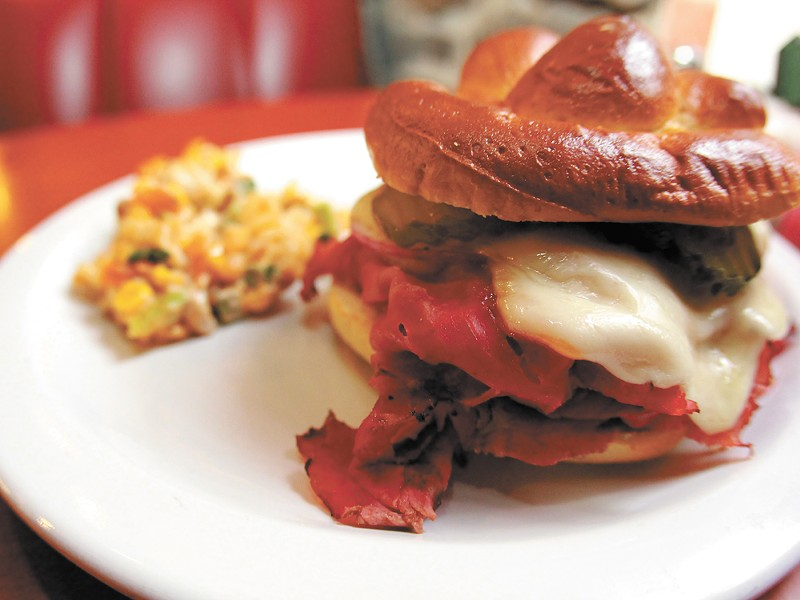 Brooklyn Deli's Pastrami Stacker. - JOSEPH KONEK