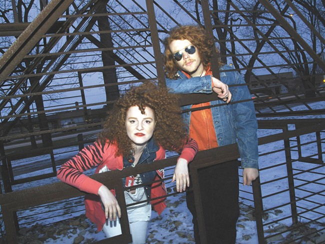 Brother-and-sister rock duo White Mystery