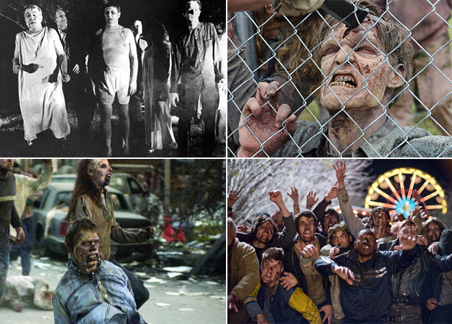 Practice your best zombie scowls, Spokane. Some inspiration from (clockwise from top left) Night of the Living Dead, The Walking Dead, Zombieland and Dawn of the Dead.