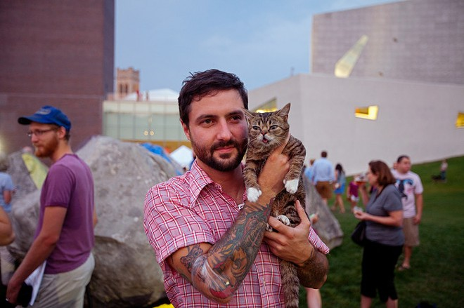 Catstarter aims to fund a book examining why we love cat videos so much, like anything featuring LIL BUB. - GENE PITTMAN/WALKER ART CENTER