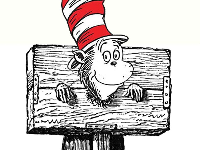 Cat in a hat in a pillory  — but is it torture?