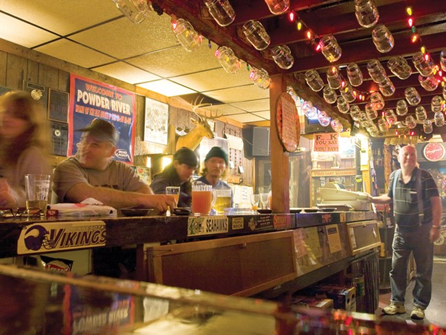 Challenge the bartender to a game or Horses at Powder River Saloon. - JEFF FERGUSON