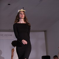 PHOTOS: Olive + Boone Custom Millinery Show Christine Cresswell walks the runway. Young Kwak