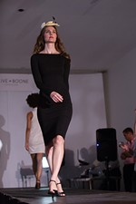 Christine Cresswell walks the runway.