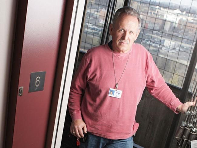 City elevator inspector George Stumph - YOUNG KWAK