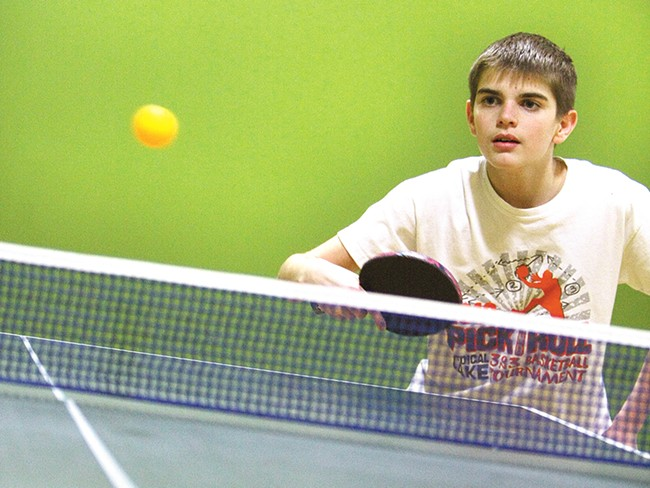 Cody Hagel, 14, is the youngest member of Spokane Table Tennis. - YOUNG KWAK