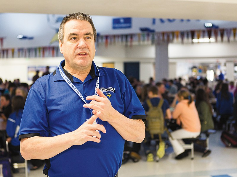 Coeur d\'Alene High School Principal Warren Olson says the school may install new security measures. - STEPHEN SCHLANGE