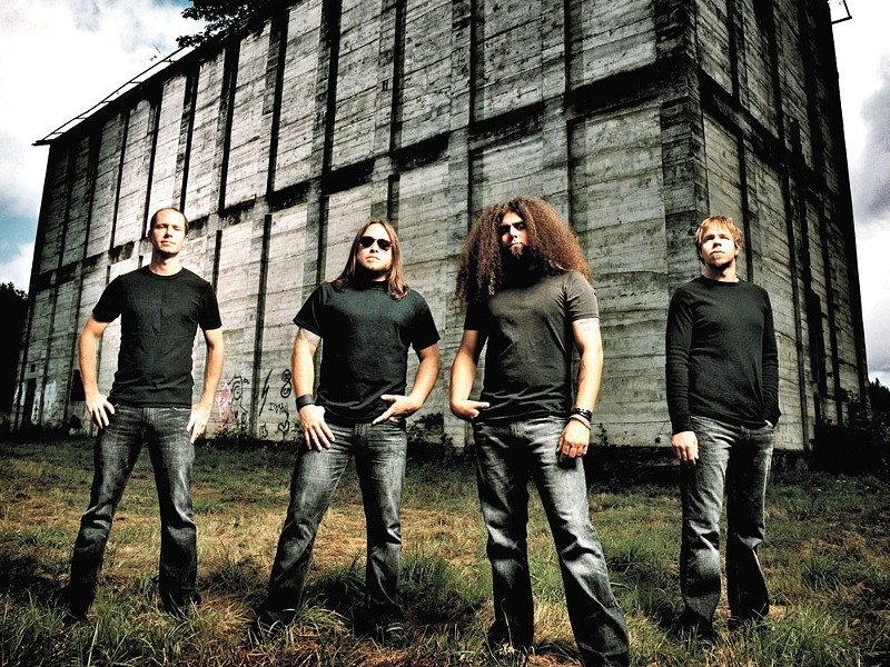 Coheed and Cambria (L to R): Chris Pennie, Travis Stever, Claudio Sanchez, Mic Todd