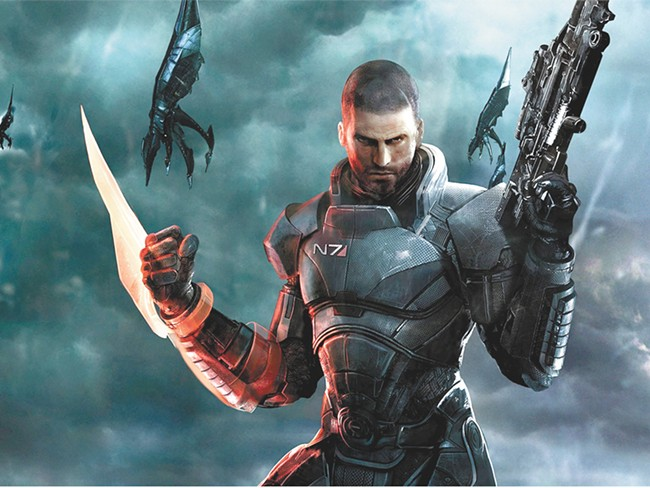 Commander Shepard goes full kill mode in Mass Effect 3