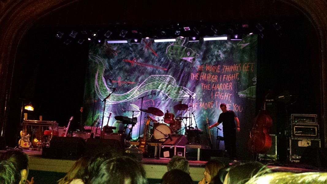 A look at Neko Case's stage—just before security reminded me of the no-photo policy. - DAN NAILEN