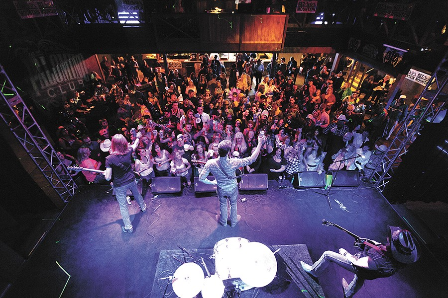 Country singer Jon Pardi, center, performs with his band the All Nighters at the Palomino Club last Saturday. - YOUNG KWAK