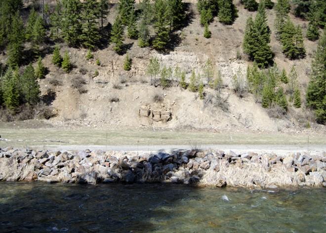 Crews removed contaminated soil and rebuilt riverbanks at abandoned mill site. - JACOB JONES