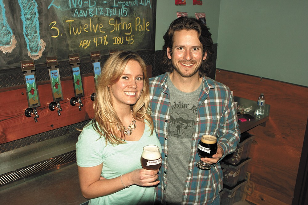 Danielle and Brian Guthrie, owners of Ramblin' Road Craft Brewery. - MEGHAN KIRK