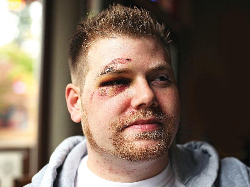 Danny Hawkins says he was attacked because of his sexual orientation. - YOUNG KWAK