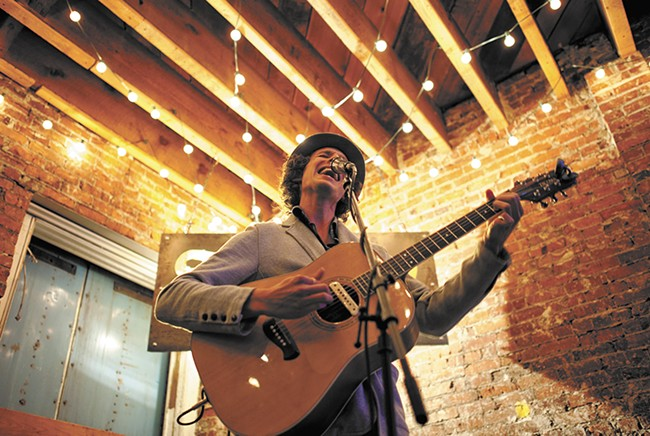 Dario Re performs during First Friday. - CHRISTIAN WILSON