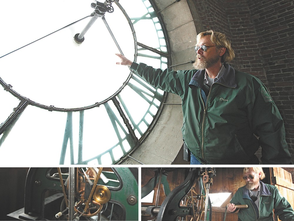 Dave Randolph has tended Riverfront Park\'s clock tower for more than half his life. - YOUNG KWAK