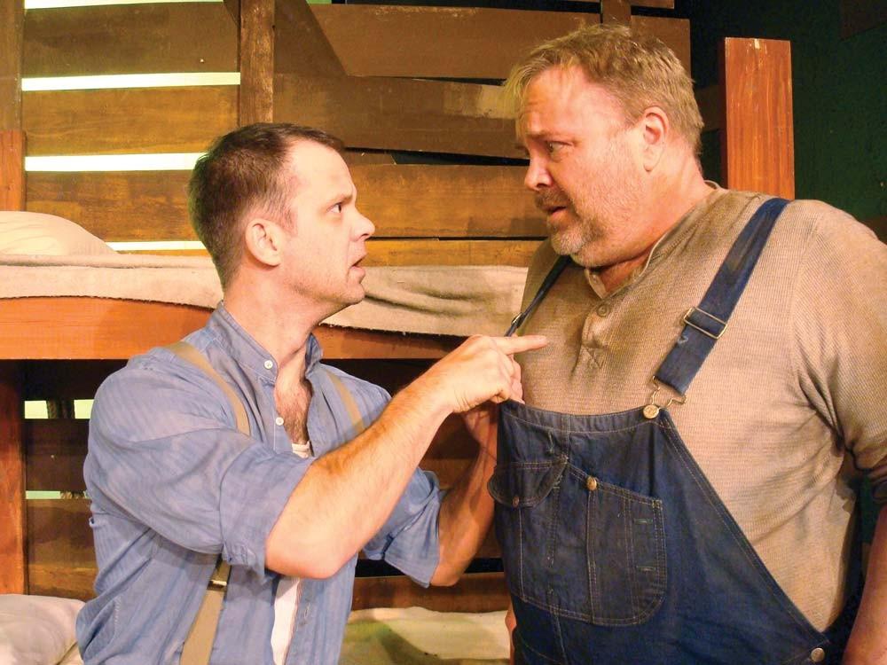 David Gigler (right) in Of Mice and Men