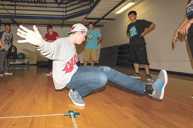 David Moyle (pictured) began break dancing with Tucker Frye in 2008. - MATT WEIGAND