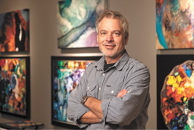 """Dean Davis selected some of the region's most beloved artists for his """"Artist's Palette"""" exhibit."""