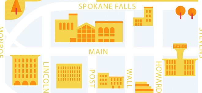 Detail from new Visual Arts Tour map debuting in the Feb. 13 issue. - JACOB GREIF
