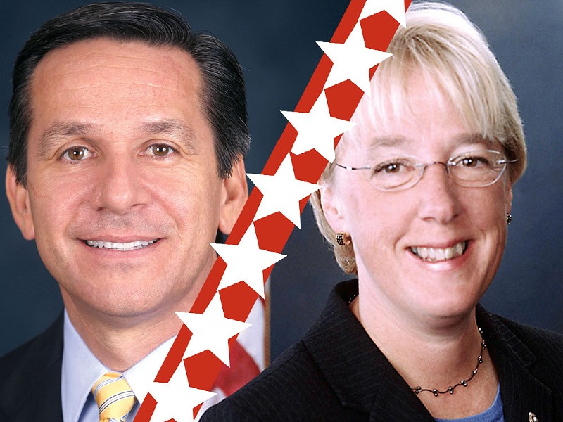 Dino Rossi and Patty Murray