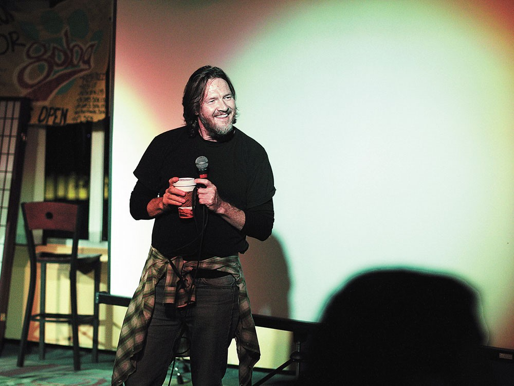 Donal Logue, leading a talk about his new show at Gonzaga - YOUNG KWAK