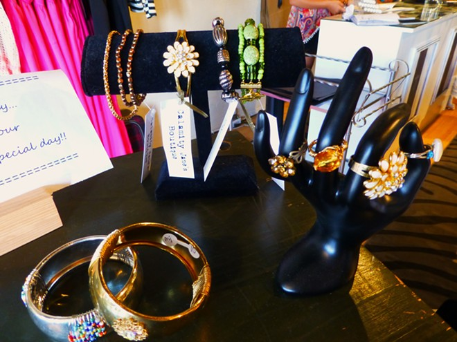 Donna Hauck bracelets and rings. Bangles: $10. Rings: $10 to $15. - MADISON BENNETT