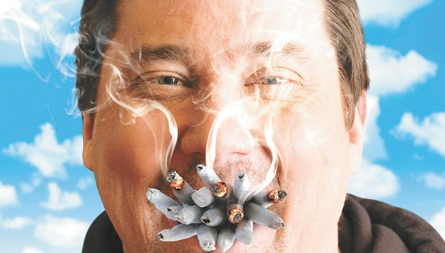 Doug Benson is still getting high — now he just does it on the Internet with famous people.