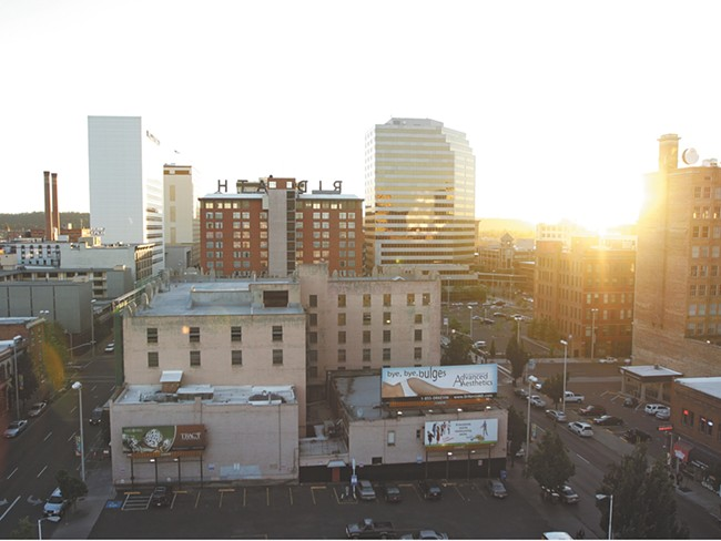 Downtown Spokane from the Hutton Building, formerly owned by Rob Brewster. Brewster has lost many of his iconic Spokane buildings. - YOUNG KWAK