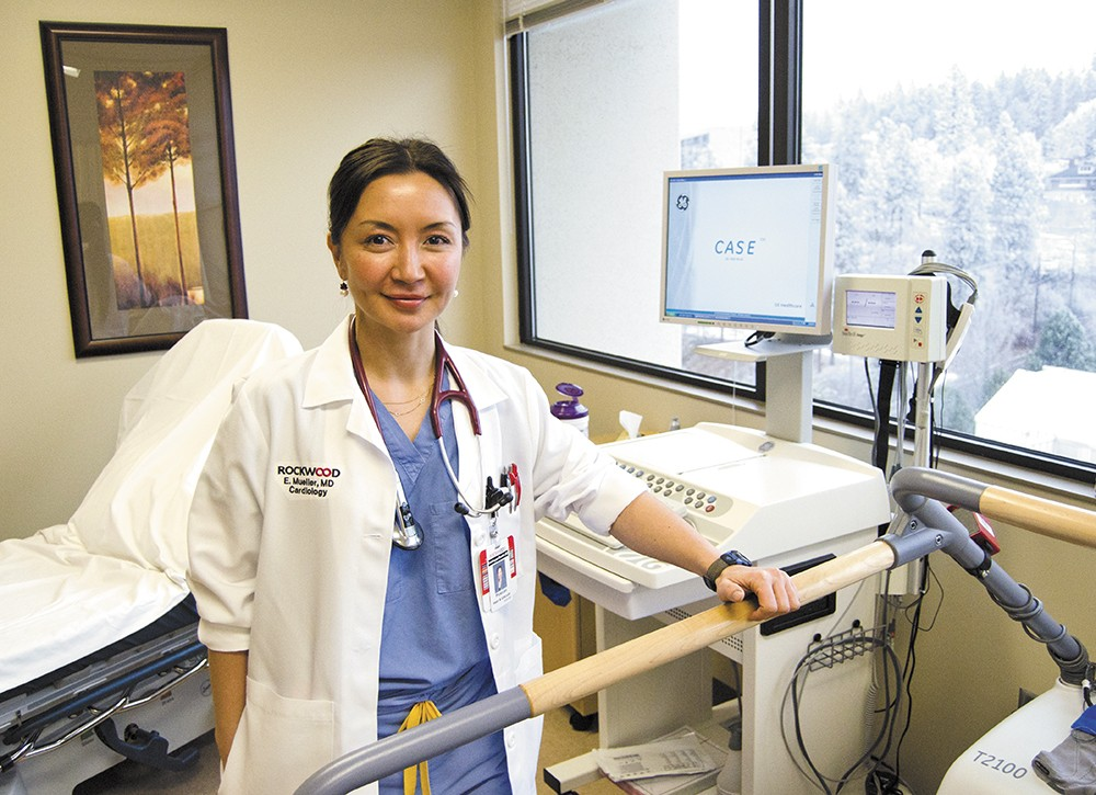 "Dr. Enkhtuyaa ""Ellie"" Mueller, a cardiologist with Rockwood Clinic, uses ""stress testing"" to help diagnose cardiovascular disease. - JACOB JONES"