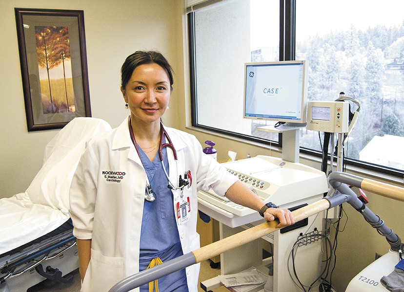"""Dr. Enkhtuyaa """"Ellie"""" Mueller, a cardiologist with Rockwood Clinic, uses """"stress testing"""" to help diagnose cardiovascular disease. - JACOB JONES"""