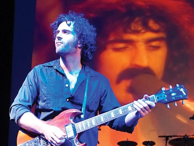 Dweezil and Frank Zappa