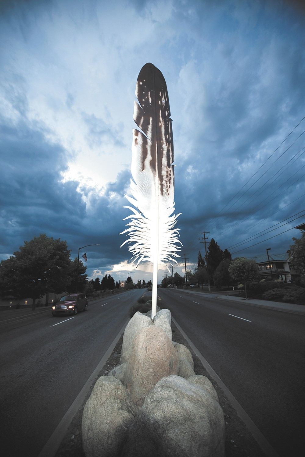 Eagle Feather on Northwest Boulevard is a constant reminder of the importance of public art in the Lake City.