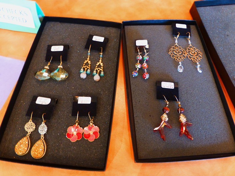 Earrings made by Rebecka Anderson. Prices range from $20 to $40. - MADISON BENNETT